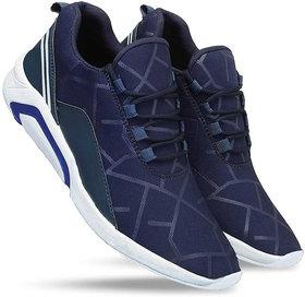 Clymb Naysa Navy Walking Running Sports Shoes For Mens
