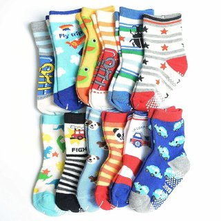 Kids Socks Printed Multicolour (Pack Of 12)