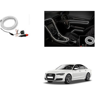 Autoladders Car Interior Ambient Wire Decorative Led Light White For Audi A6