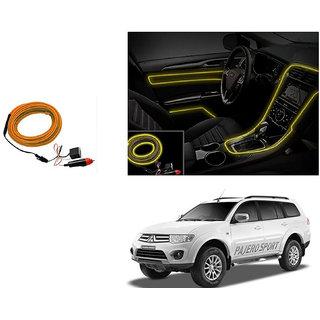 Autoladders Car Interior Ambient Wire Decorative Led Light Yellow For Mitsubishi Pajero