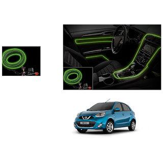 Autoladders Car Interior Ambient Wire Decorative Led Light Lemon For Nissan Micra