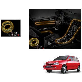 Autoladders Car Interior Ambient Wire Decorative Led Light Orange For Maruti Zen