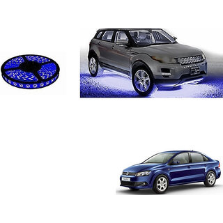 Autoladders Car Underbody 5 Meters Cuttable Blue Led Roll For Volkswagen Vento