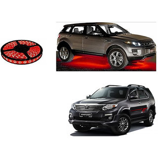 Autoladders Car Underbody 5 Meters Cuttable Red Led Roll For Toyota Fortuner Type 1