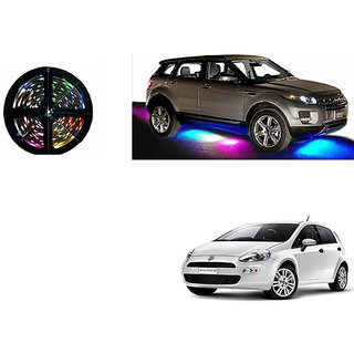 Autoladders Car Underbody 5 Meters Cuttable Multicolor (Rgb) Led Roll For Fiat Punto