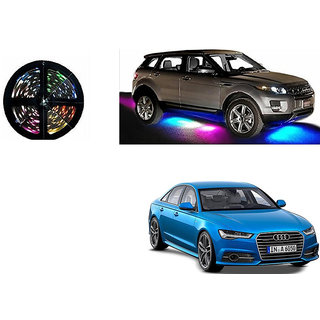 Autoladders Car Underbody 5 Meters Cuttable Multicolor (Rgb) Led Roll For Audi S6