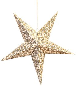 Art Papyrus Paper Star Lantern Christmas Star S-12 Hanging Star Pack Of 5
