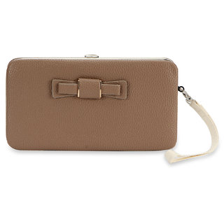 Nfi Essentials Clutch Hand Wallet Card Holders Money Bag Mobile Wallet (Y38Brown)