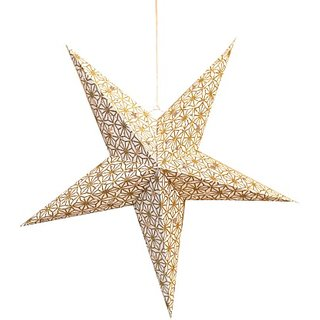 Art Papyrus Paper Star Lantern Christmas Star S-12 Hanging Star Pack Of 5