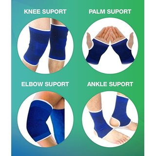 Yash Hr Combo Palm, Ankle, Elbow Knee Support Free Size