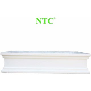 Ntc Rectangle Concrete Grc Planters Pots For Garden, Nursery (673X419X152 Mm, White)