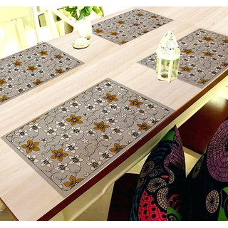 Aradent Pvc Kitchen Table Placemats For Center Table 4 Seater Table Placemats(45X30Cm, Multicolor) - Set Of 4
