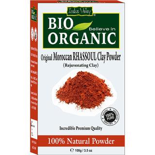 Indus Valley Bio Organic 100 Natural Original Moroccan Rhassoul Clay Powder 100Gm