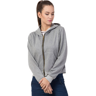 Bestic Fashion Full Sleeve Solid Women Sweatshirt Hoodies