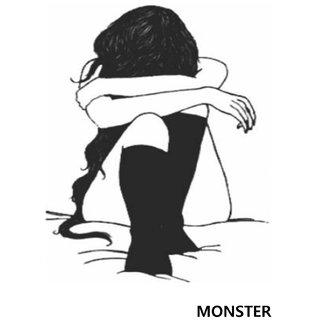 Monster Temporary Tattoo Waterproof For Girls, Men, Women Beautiful Popular Girl Tattoo