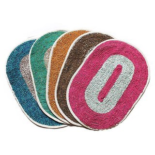 Jainco Set Of 5 Multicolour Door Mats (Assorted Colors)(30Cm45Cm)