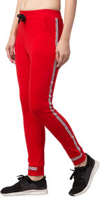 Cliths Women Red Slim Fit Cotton Stylish Track Pant