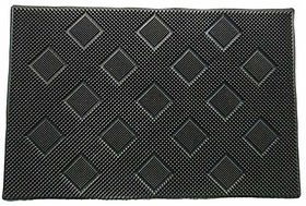 Zoroo 40X60 Cm Rubber Suction Anti Slip Shower Mat Bathroom Mat Bath Mat Antimicrobial Non Slip Shower Mat Bathroom Mat Bathroom Floor Mat - Black