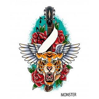 Monster Temporary Body Tattoo Waterproof For Girls Men Women Beautiful Popular Multicolor Lion Tattoo