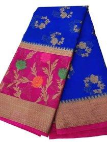Banarasi kora silk georgette weaving saree