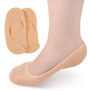 DJ FINDER 1Pair Anti Slip Full Length Silicone Gel Moisturizing Socks Foot Care Protector for Foot Care and Heel Cracks
