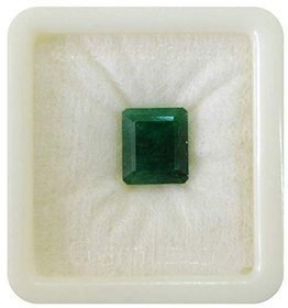 Parushi Gems 16.75 Ratti Natural Green Emerald Cushion Shape Faceted Gemstone May Birthstone for Unisex