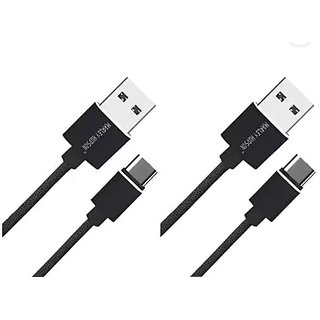 Marley Hudson USB Type C to USB A 2.0 Male Data Cable  Pack of 2    0.91m/3ft Cables