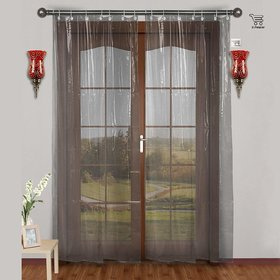 CASA-NEST PVC AC Curtain, 0.15 mm, 4.5 x 7 ft (Clear)