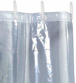 CASA-NEST PVC 0.30 MM Transparent AC Curtain - 7ft, White