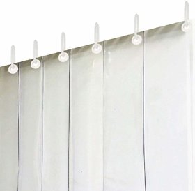 CASA-NEST 3 Strips PVC AC Curtain-9ft, 0.5mm Transparent (CKTS27)