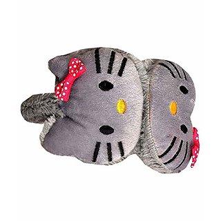 KAVYA FASHION Winter Cute Cat Kitten Ear Warmer Earmuffs Faux Fur Plush Ear Cover For Girls Women