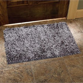 CASA-NEST Shaggy Door Mat (16 x 24)- Grey