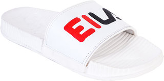 Edee White Slide Slipper For Men's