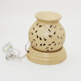 CARGO'S Ceramic Electric Aroma Oil Diffuser Set Big Matki Shape/Oil Burner/Fragrance Lemon Grass