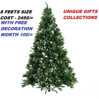 UNIQUE - 8 FOOT BIG SIZE XMAS TREE - METAL STAND - 8 FEET HEIGHT ARTIFICIAL CHRISTMAS TREE