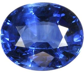 Parushi Gems 12 Ratti Natural Blue Sapphire Oval Cut Faceted Gemstone Neelam Original September Birthstone for Unisex