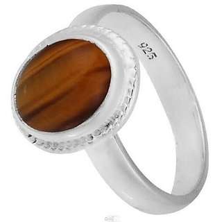 CEYLONMINE-original tiger's eye silver ring for women & men lab certified 8.5 carat gemstone ring for astrological purpose