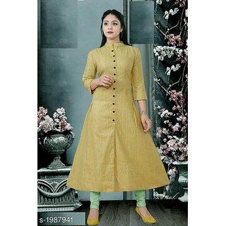 veera fashion  cotton A-line kurti