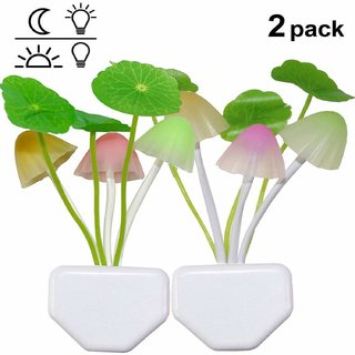 Automatic Sensor Mushroom Night Lamp with Flowers- Multi Color Changing Effect - Work in Dark Place Due to Night Sensor