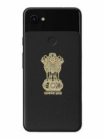 Pack of 2 Satyamev Jayate Metal sticker with 24k Gold platedfor Mobile/laptop self adhesive