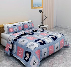 Bsb Trendz 160 Tc Cotton Double Bedsheet San Marino With 2 Pillow Cover Size-90X100