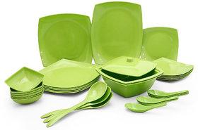 Abon 32 Pcs Melamine Green Dinner Set