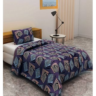 Bsb Trendz 160 Tc Cotton Single Bedsheet San Marino With 1 Pillow Cover Size-90X60