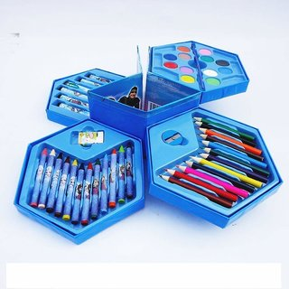 Asu Colors Box Color Pencil ,Crayons, Water Color, Sketch Pens Set Of 46 Pieces (Random) (Random For Boys)