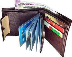 29K Brown Men's Leatherite Bi-Fold Wallet
