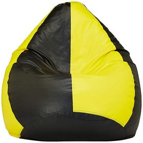 Vsk Xxxl Bean Bag Cover Yellow   Black  Without Beans