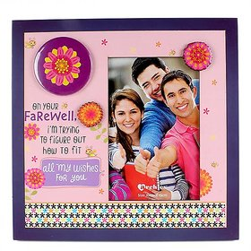 On Your Farewell Wishes Quotation With Wooden Photo Frame