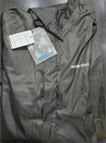 Rain Fighter Men's Single Coted Fine Quality One Piece Raincoat (Xl Size, 45 Inches Long)