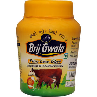 Brij Gwala Pure Desi Ghee 1 Ltr Jar