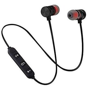 Mapon Wireless Magnetic Bluetooth Neckband with Mic (Black)